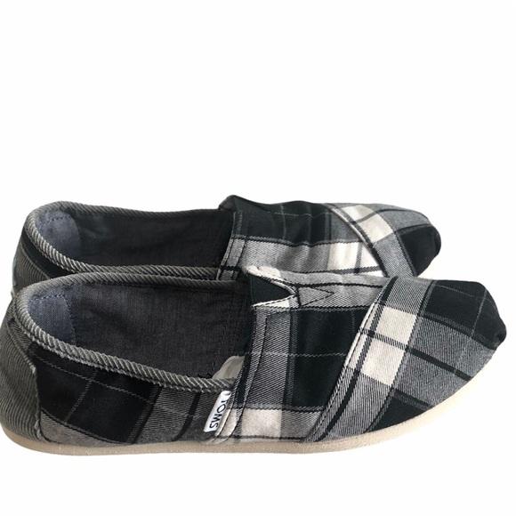 Toms Shoes | Toms Black White Plaid
